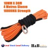 10MM x 30M Dyneema Winch Rope Synthetic Cable 4WD Tow Recovery ORG