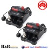 2x100A AMP Circuit Breaker Dual Battery IP67 Waterproof 12V 24V Fuse Reset