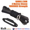 BLK Dyneema Winch Rope 10MM x 30M 254mm BLK Anodised Fairlead Synthetic 4WD Tow