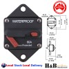 60A AMP Marine Circuit Breaker IP67 Waterproof 12V 24V Panel Mount Reset