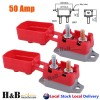 2X50A AMP 12V Circuit Breaker Cover Stud Type Fuse Automatic Auto Reset