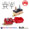 30A AMP 12V Metal Circuit Breaker Cover Dual Battery Fuse Auto Reset Caravan