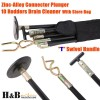 Drain Cleaner Cleaners 10 Rod Carry Bag T Swivel Handle Zinc Alloy Plunger