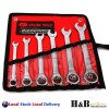 6 Pc Combination Ratchet Gear Wrench Spanner Set CR-V Steel 8