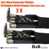 2 X Drain Cleaner Cleaning 10 Rod 94cm Each plunger And Double Worn Screw