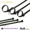 100 Pcs Cable Tie High Quality Black 3.6x150 mm Nylon Cable Ties Zip