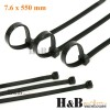 100 Pcs Cable Tie High Quality Black 7.6x550 mm Nylon Cable Ties Zip