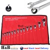 14 Pcs Trade Grade Ratchet Single Way Gear Spanner Set CR-V Metric 8-24mm Sale