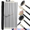 Drain Cleaner 10 Rod Zinc Alloy Connector 4 Spare Heads T Swivel Handle
