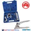 Pro Double Flaring Flare Tool Kit 3 in 1 Tube Bender Deburrer Tools