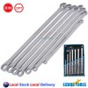 7 Pcs Cr-V Aviation Extra long spanner Flat Ring Wrench Set 8-24mm High Quality