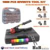1060pcs Rivnut Nutser Tool Kit Rivet Nut Gun Cr-Mo Mandrels Stainless M3-M12