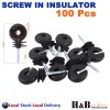 Hi Quality 100 Screw In Insulator polyrope Ring Farm Electric Fence Wood Timber