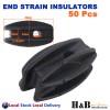 50X HD End & Corner Strain Insulator Bullnose Electric Fence Energiser Polywire