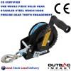 1600 LBS Hand Winch Stailess Steel Hook Dyneema Rope Professional Taiwan Made