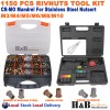 1150pcs Rivnut Rivet Nut Assortment & Hand Riveter Gun Nutsert Tool Kit M3 - M10