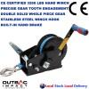 3200 LBS Hand Winch Hand Brake Stainless Steel Hook Dyneema Rope Taiwan Made