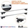 135cm Universal Roof Rack Cross Bar Lockable Aluminium Aolly Width Adjustable