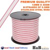 High Quality 12mm X 400M Electric Fence Poly Tape 6 Strands SS Wire Polytape