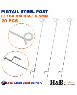 20x Tread In Pigtail Steel Post Posts Electric Fence Pig Tail Strip Graze