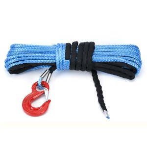 10MM x 30M Dyneema Winch Rope G80 Hook Synthetic Cable 4WD Tow Recovery