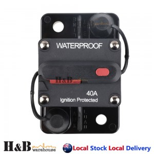 40A AMP Circuit Breaker Dual Battery IP67 Waterproof 12V 24V Fuse Reset