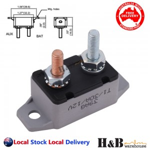 30A AMP 12V Circuit Breaker Dual Battery Fuse Automatic Auto Reset Sale