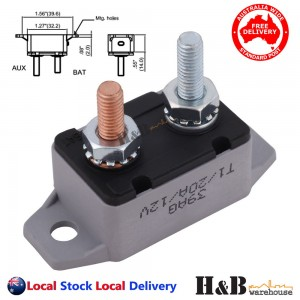 20A AMP 12V Circuit Breaker Dual Battery Fuse Automatic Auto Reset Sale