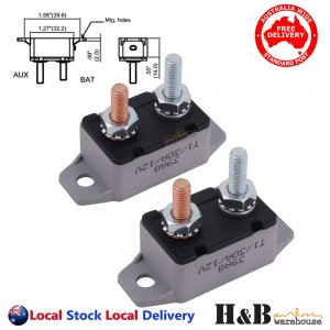 2X 30A AMP 12V Circuit Breaker Dual Battery Fuse Automatic Auto Reset Sale