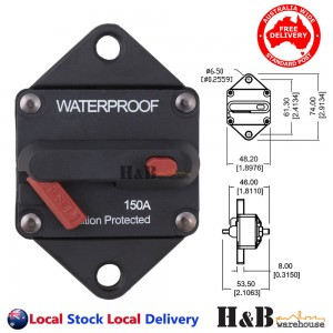 150A AMP Marine Circuit Breaker IP67 Waterproof 12V 24V Panel Mount Reset