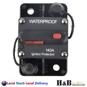 140A AMP Circuit Breaker Dual Battery IP67 Waterproof 12V 24V Fuse Reset