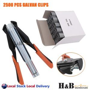 C7 SR8 GALVAN Hog Ring Gun Pliers 2500 Pcs C Clips Fence Wire Ringer Zinc-Alu