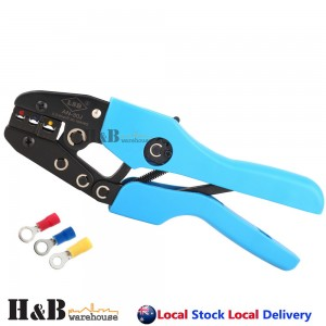 0.5-6 mm2 Yellow Blue Red Insulated Terminals Crimper Crimping Tool Pliers
