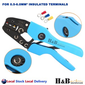 0.5-6 mm2 Professional Crimper Crimping Crimp Pliers Insulated Terminals