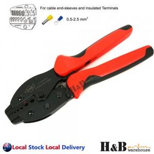 0.5 - 2.5 mm2 Ratchet Ferrule Bootlace Crimper Crimping Tool Crimp Pliers