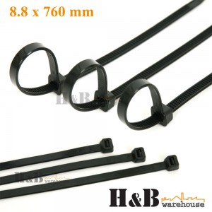 100 Pcs Cable Tie High Quality Black 8.8x760 mm Nylon Cable Ties Zip