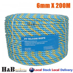 6mm x 200M Telstra Rope Parramatta Rope Coils Breaking Strength 595 KG