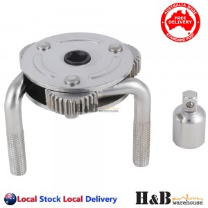 HD 3 Jaw Dual Drive Oil Filter Removal Remover Wrench Tool 65 to 110 mm