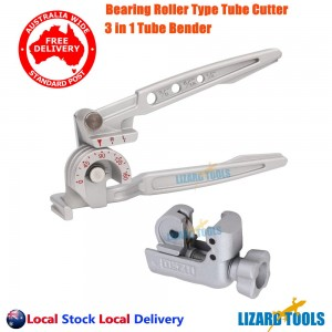 Genine 3in1 Tube Pipe Bender 180° Alum Alloy Calibrated Tube Cutter 3-19mm