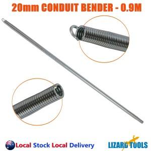 Trades Grade 20mm Conduit Bender Square Bending Spring Medium Duty 0.9M