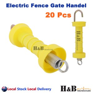 20 Pcs Electric Fence Gate Handle Insulated Spring Handles Yellow