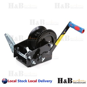 2500 LBS TAIWAN MADE PROFESSIONAL HAND WINCH SNAP ON HANDLE HAND BREAK