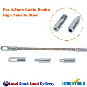 High Quality 4.5mm Cable Snake Rodder Tips Fiberglass Duct Rods Flexible Leader