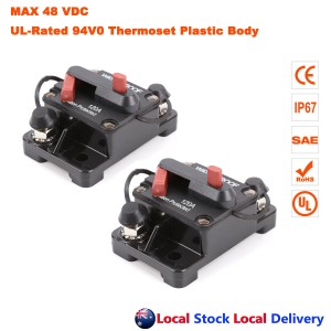 2x 120A AMP Circuit Breaker Dual Battery IP67 Waterproof 12V 24V Fuse Reset