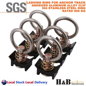 6X Anchor Track Lashing point Ring Clip 900KG Rated Trailer Truck Ute