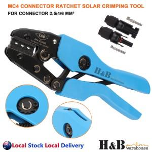 Ratcheted Solar Crimper MC4 PV Crimp Crimping Pliers Tools Connector 2.5/4/6mm