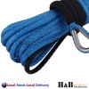 7MM x 15M Dyneema Winch Rope Blue Synthetic strap 4WD Boat Recovery BLUE