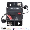 80A AMP Circuit Breaker 12V 24 Volt IP67 Waterproof Manual Reset Switch