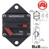 2x50A AMP Marine Circuit Breaker IP67 Waterproof 12V 24V Panel Mount Reset