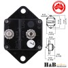 2x100A AMP Marine Circuit Breaker IP67 Waterproof 12V24V Panel Mount Reset